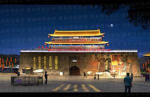 古建城门照明设计