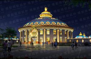 蒙古包照明亮化设计