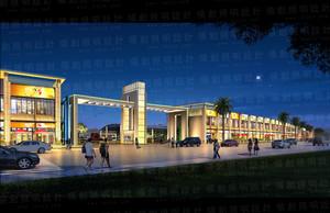 交易中心亮化设计